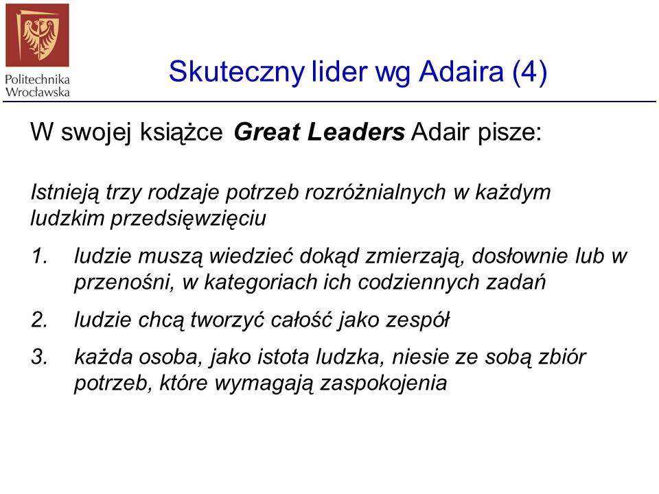 Skuteczny lider wg Adaira (4)