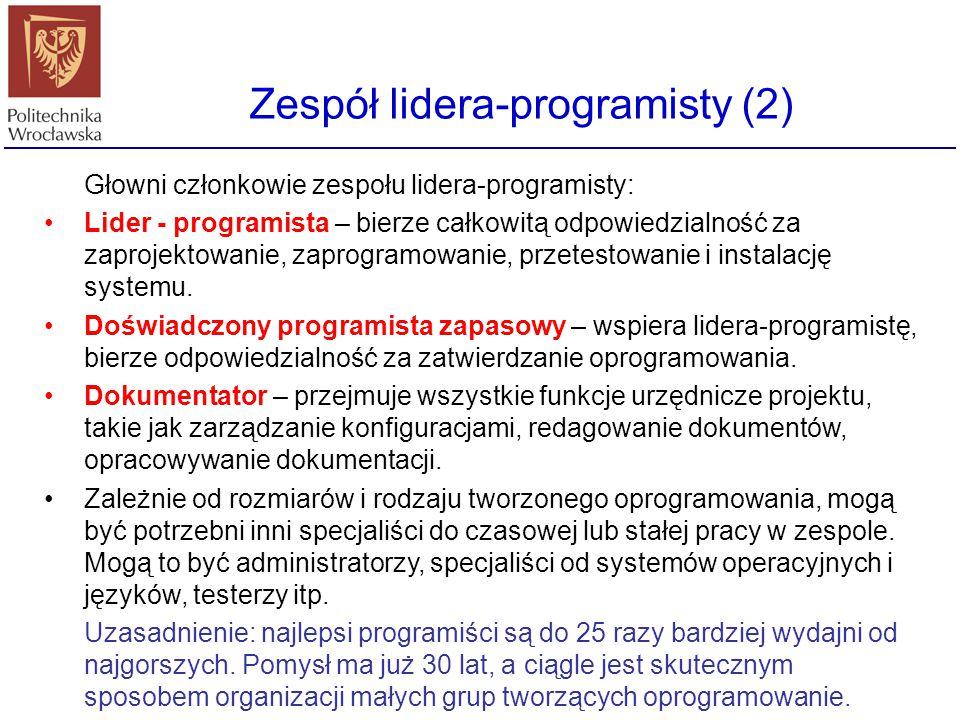 Zespół lidera-programisty (2)