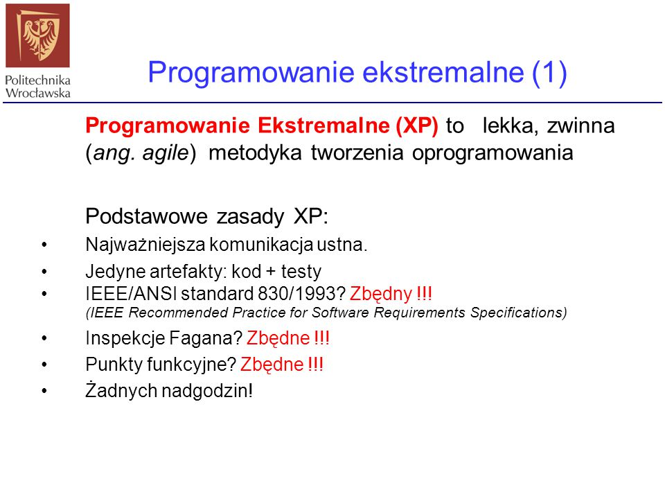 Programowanie ekstremalne (1)