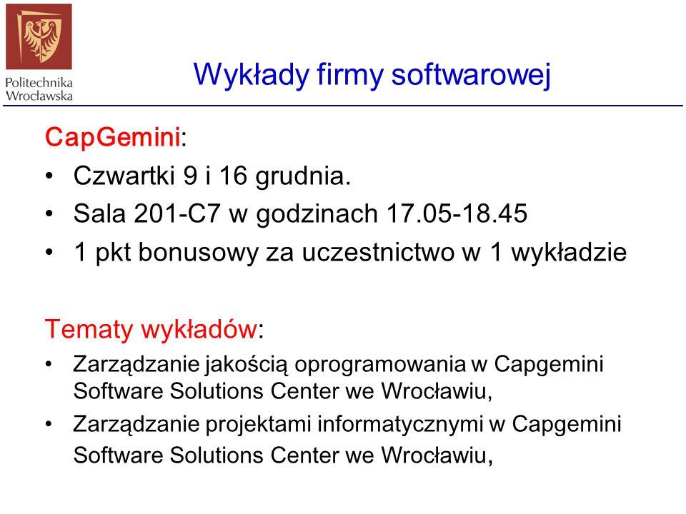 Wykłady firmy softwarowej