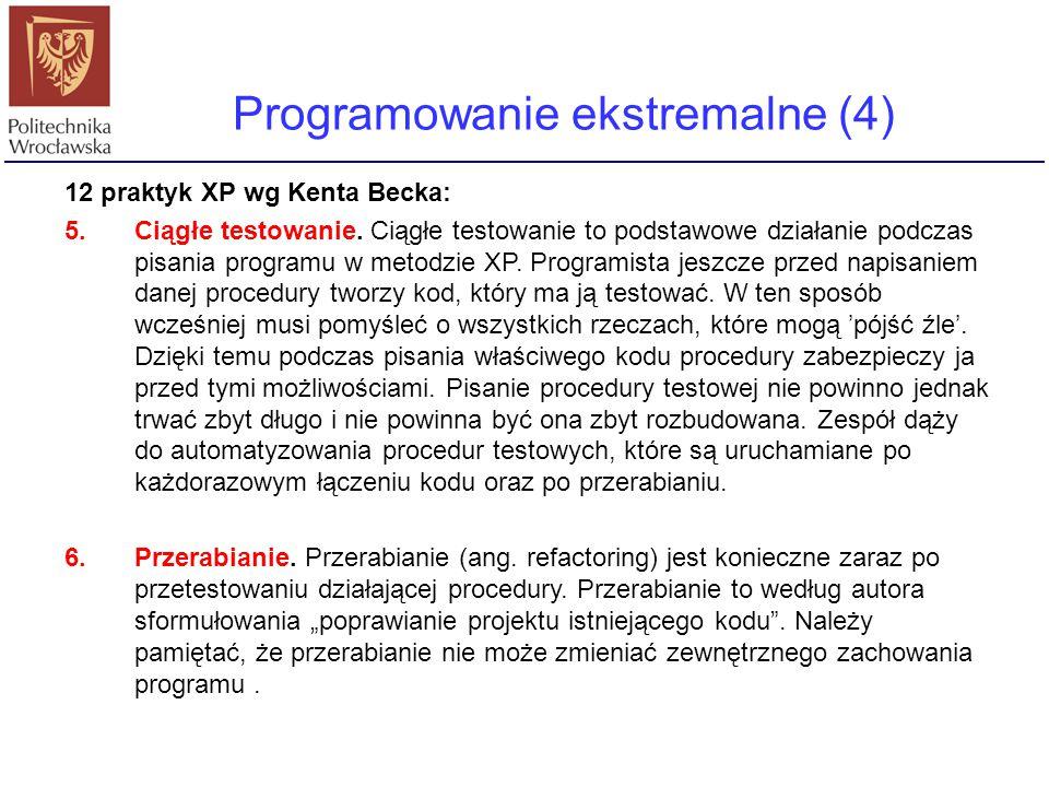 Programowanie ekstremalne (4)