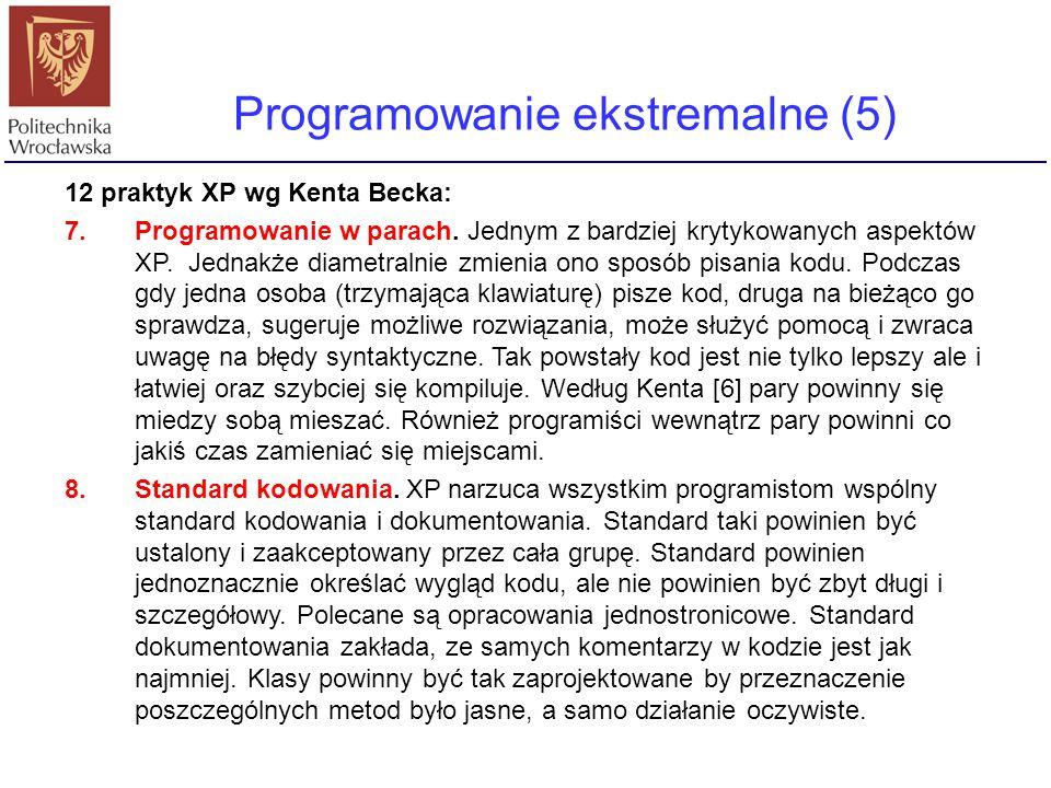 Programowanie ekstremalne (5)