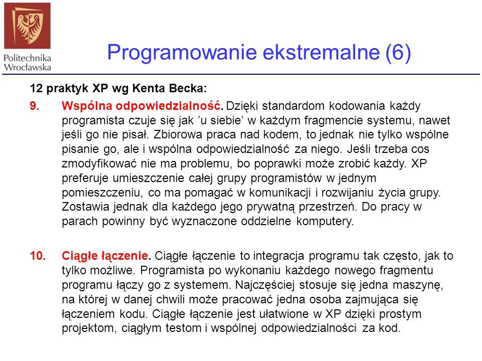 Programowanie ekstremalne (6)