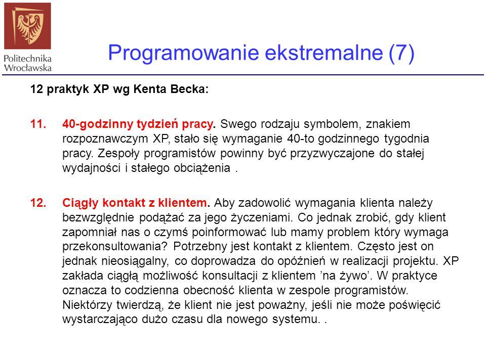 Programowanie ekstremalne (7)