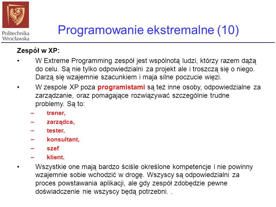 Programowanie ekstremalne (10)