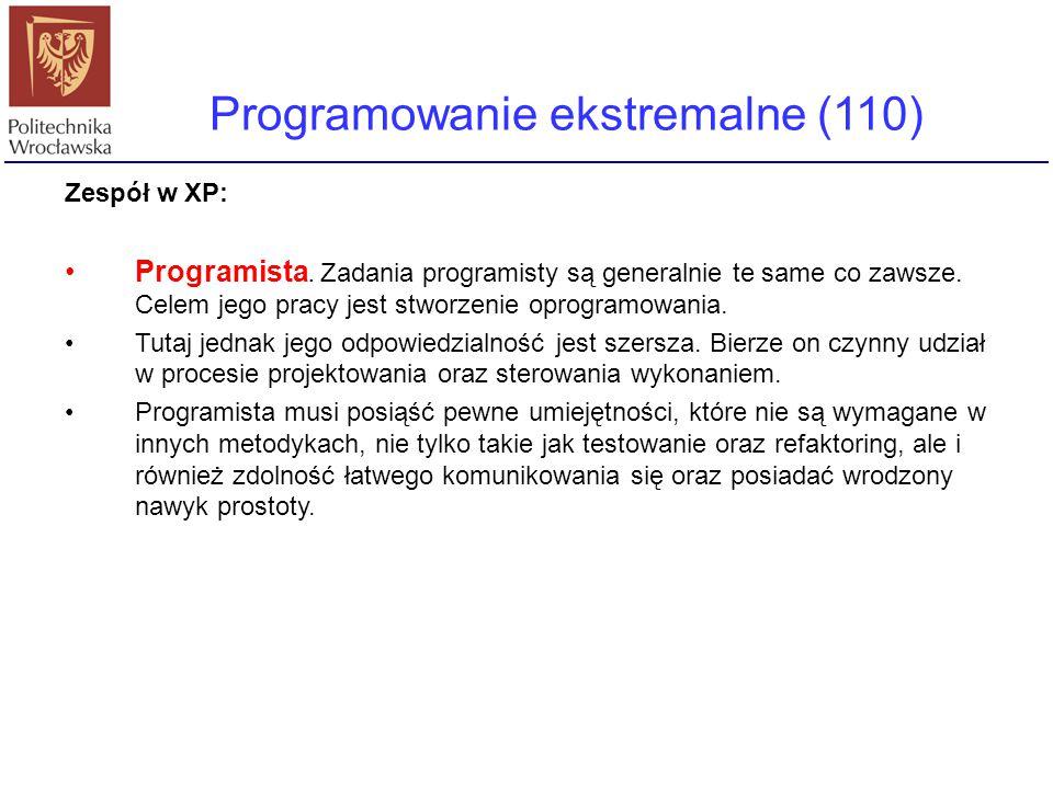 Programowanie ekstremalne (110)
