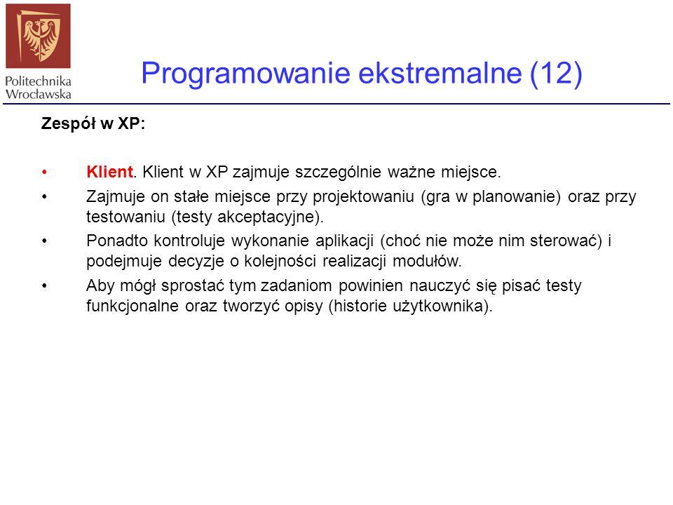 Programowanie ekstremalne (12)