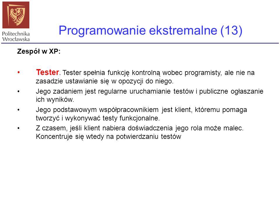Programowanie ekstremalne (13)