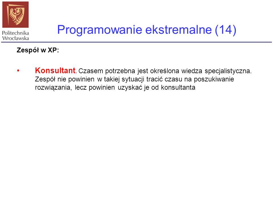 Programowanie ekstremalne (14)