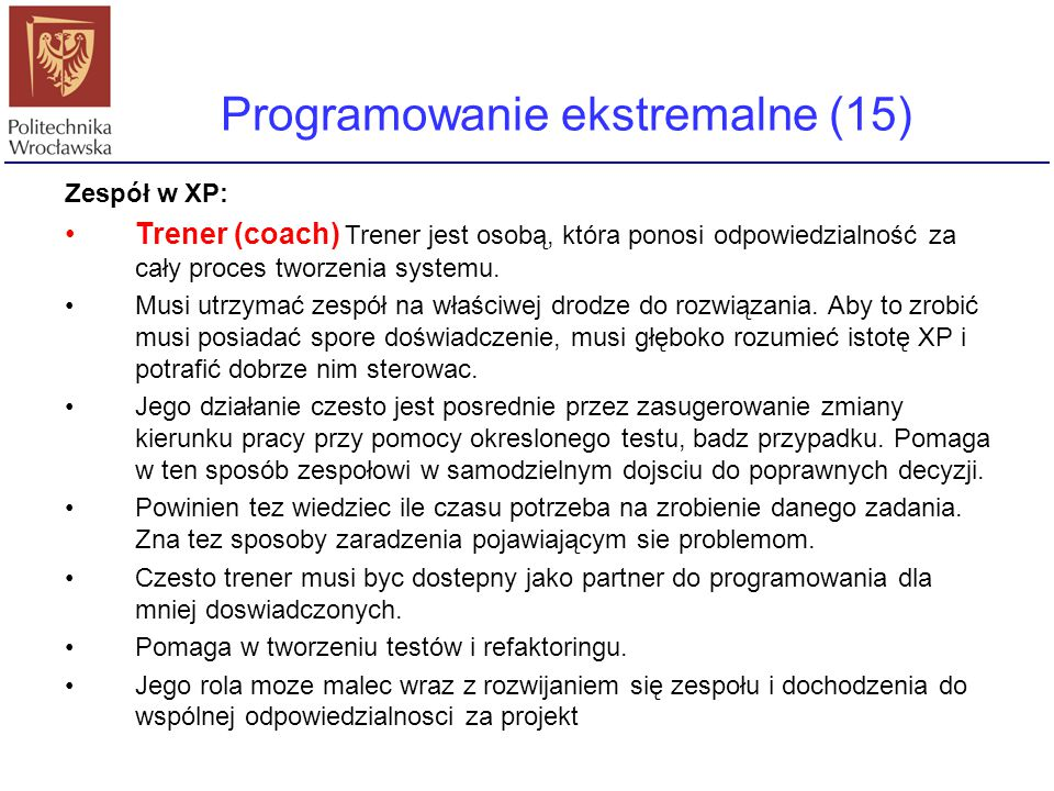 Programowanie ekstremalne (15)