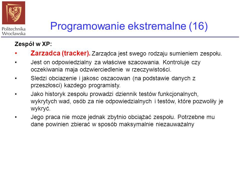 Programowanie ekstremalne (16)
