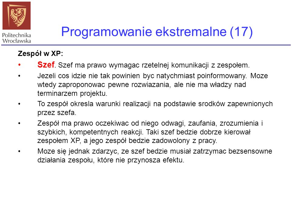 Programowanie ekstremalne (17)