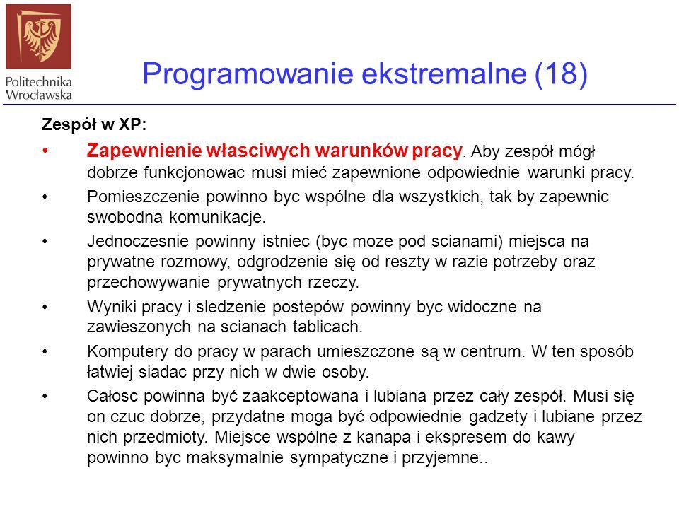 Programowanie ekstremalne (18)