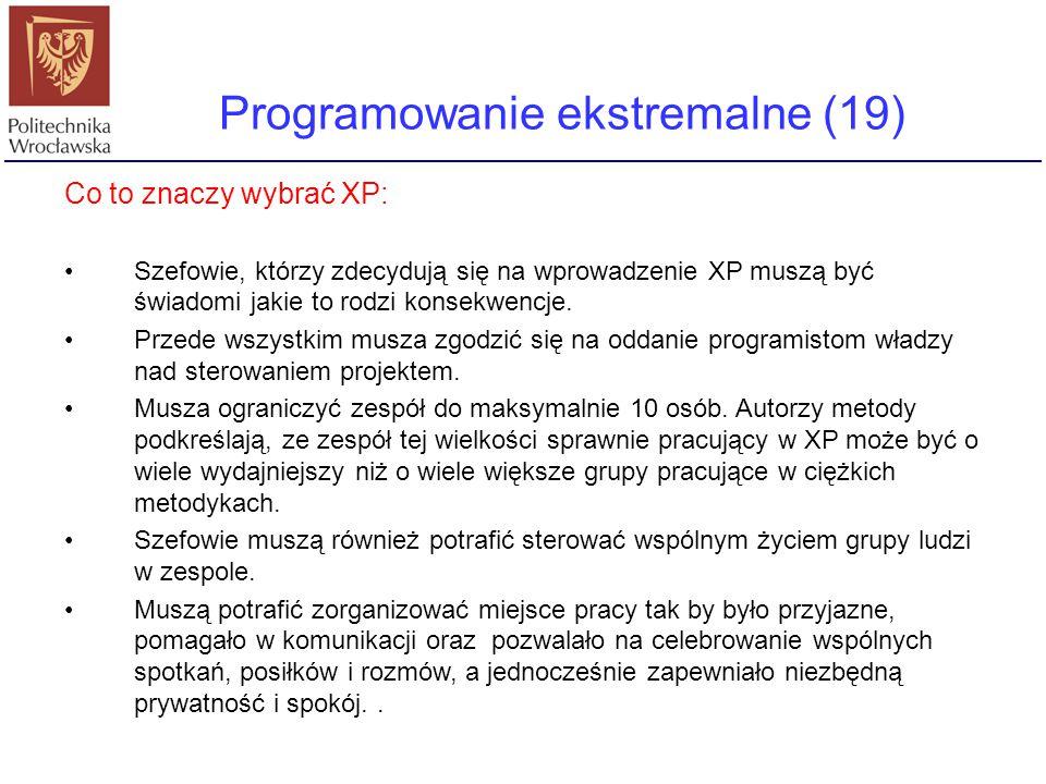 Programowanie ekstremalne (19)
