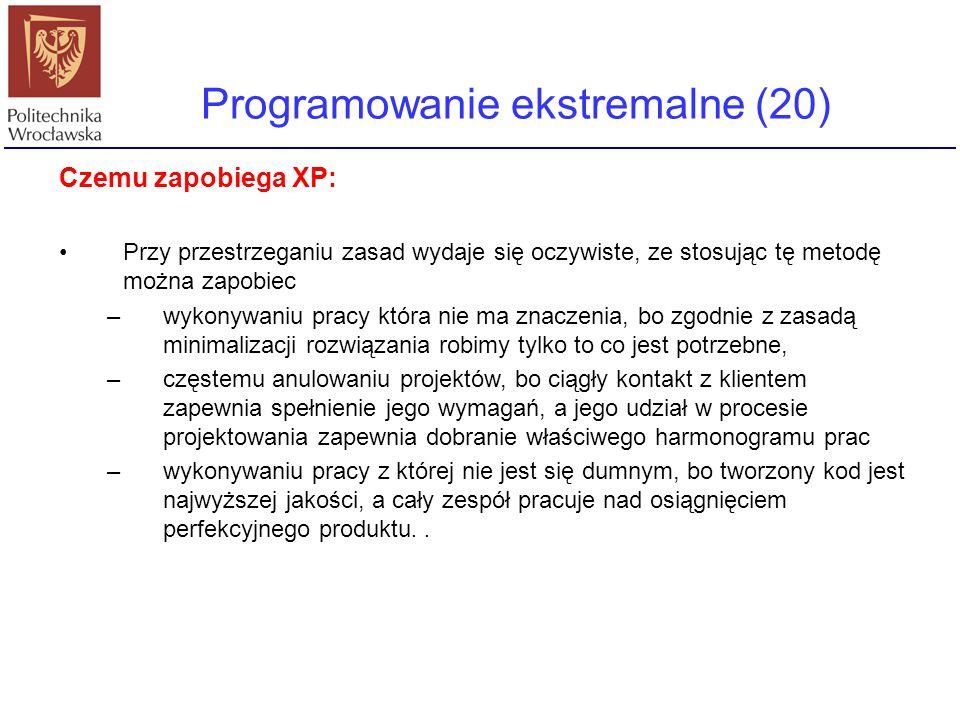 Programowanie ekstremalne (20)