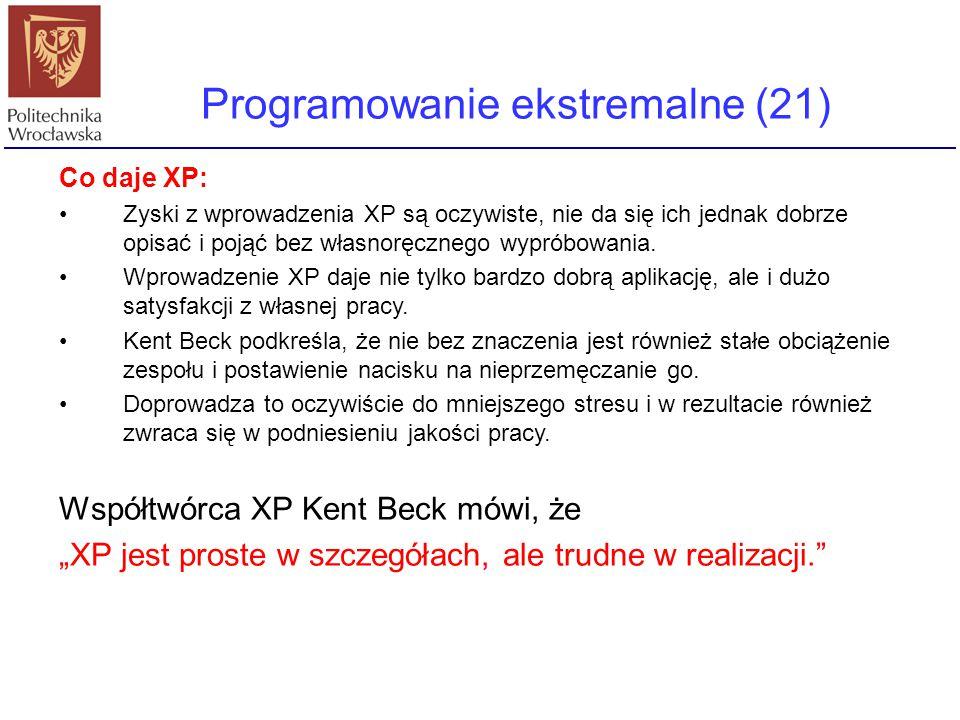 Programowanie ekstremalne (21)