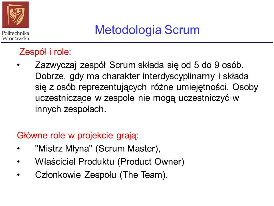 Metodologia Scrum Zespół i role: