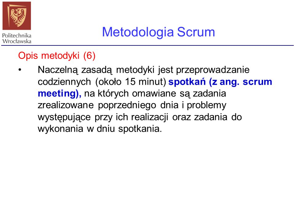Metodologia Scrum Opis metodyki (6)
