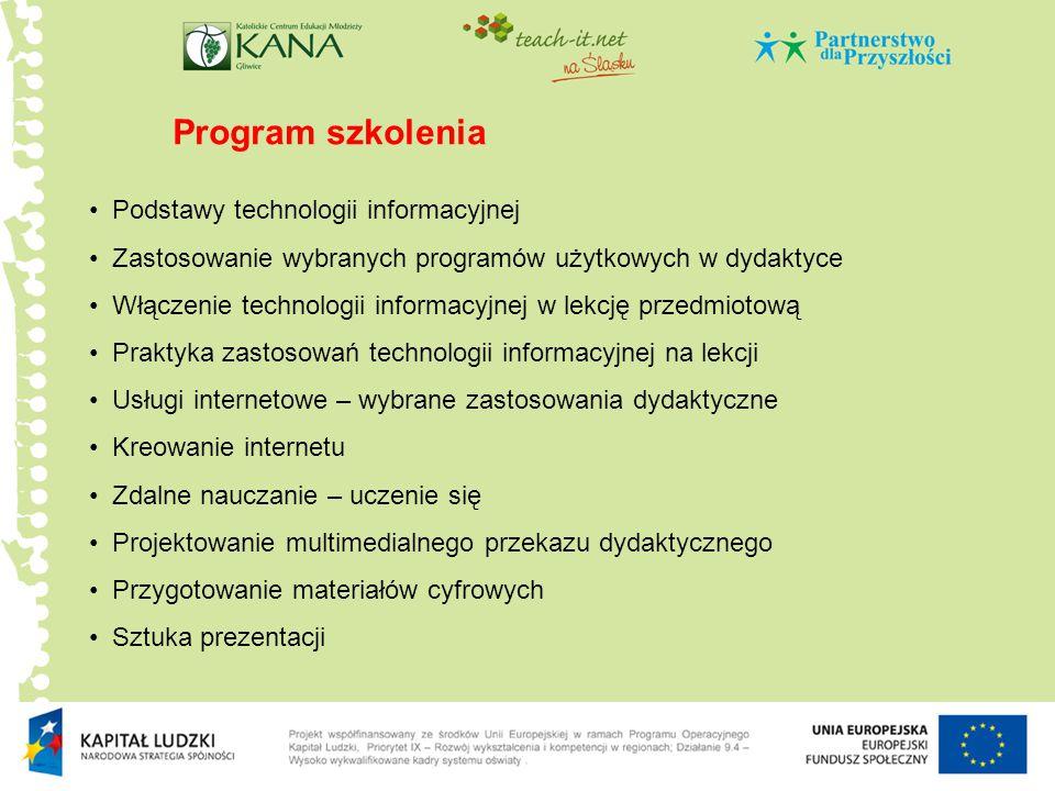 Program szkolenia Podstawy technologii informacyjnej