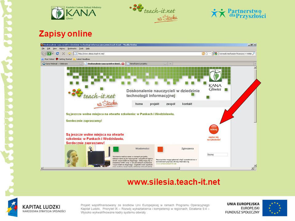 Zapisy online www.silesia.teach-it.net
