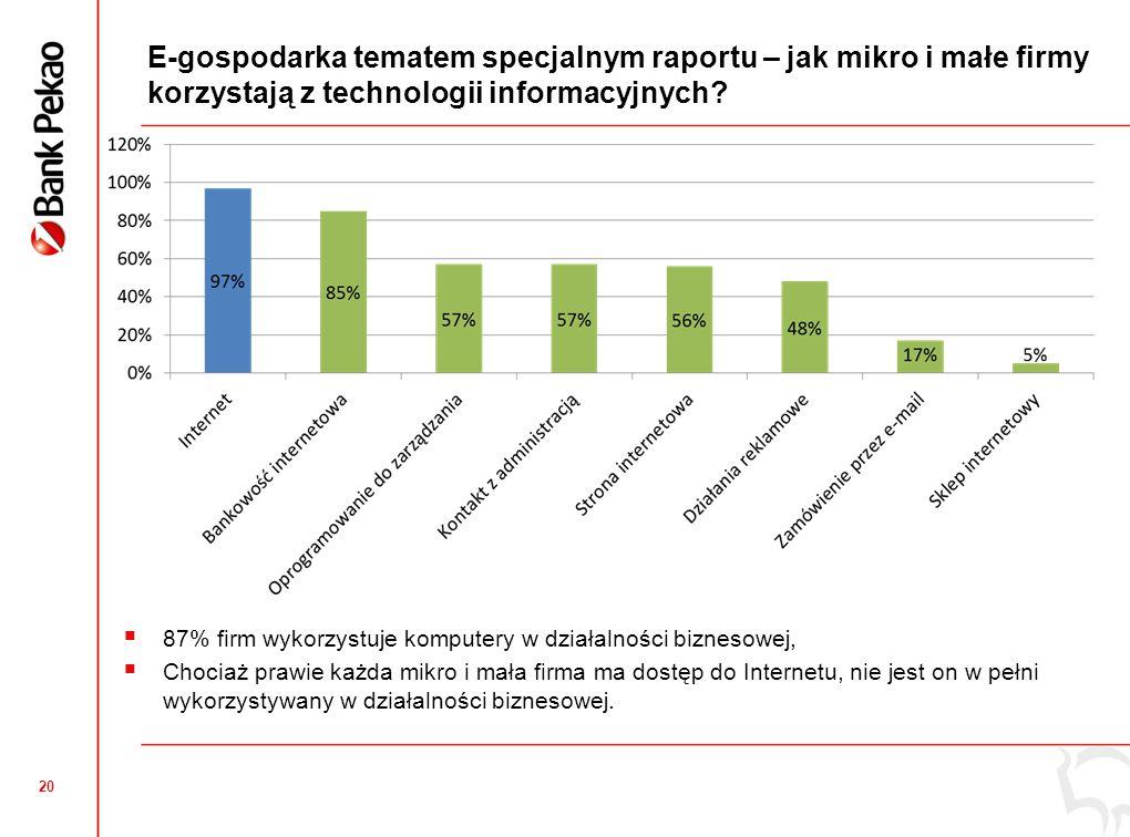 Wykorzystanie Internetu przez firmy z Małopolskiego