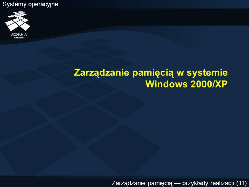 Zarządzanie pamięcią w systemie Windows 2000/XP