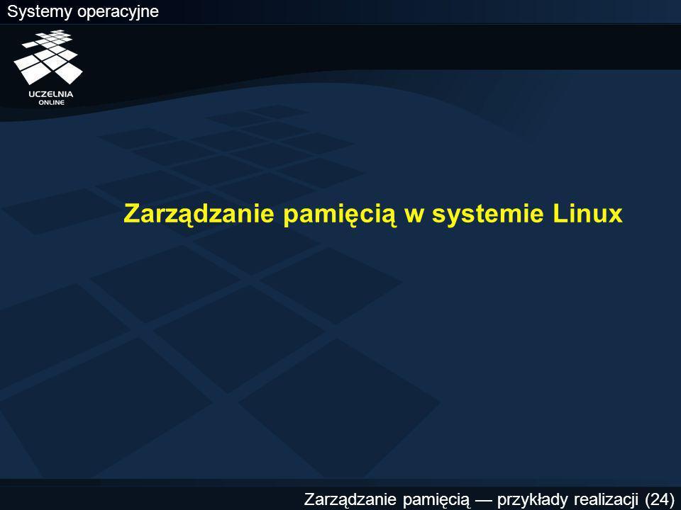 Zarządzanie pamięcią w systemie Linux