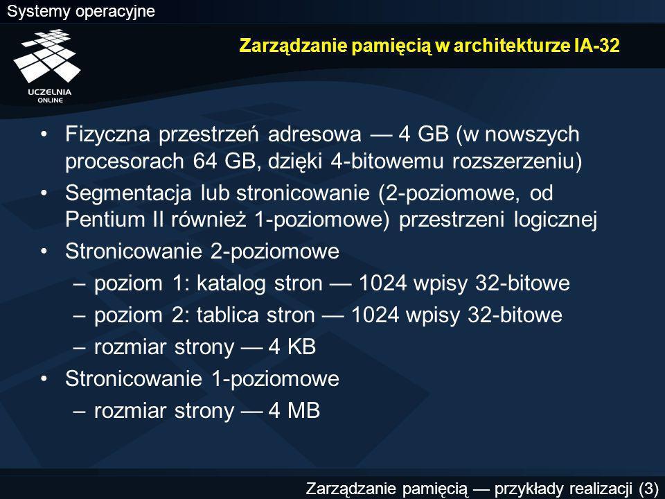 Zarządzanie pamięcią w architekturze IA-32