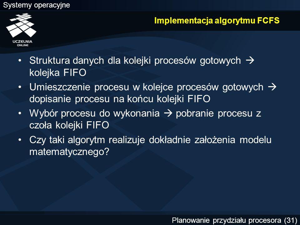 Implementacja algorytmu FCFS