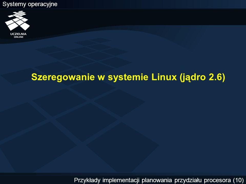 Szeregowanie w systemie Linux (jądro 2.6)
