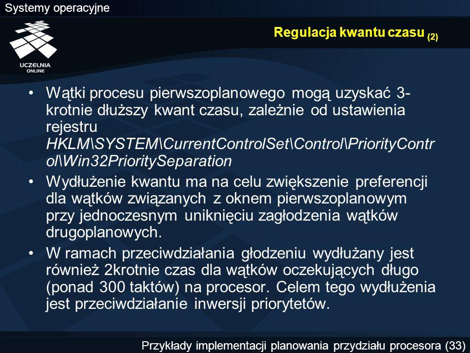 Regulacja kwantu czasu (2)
