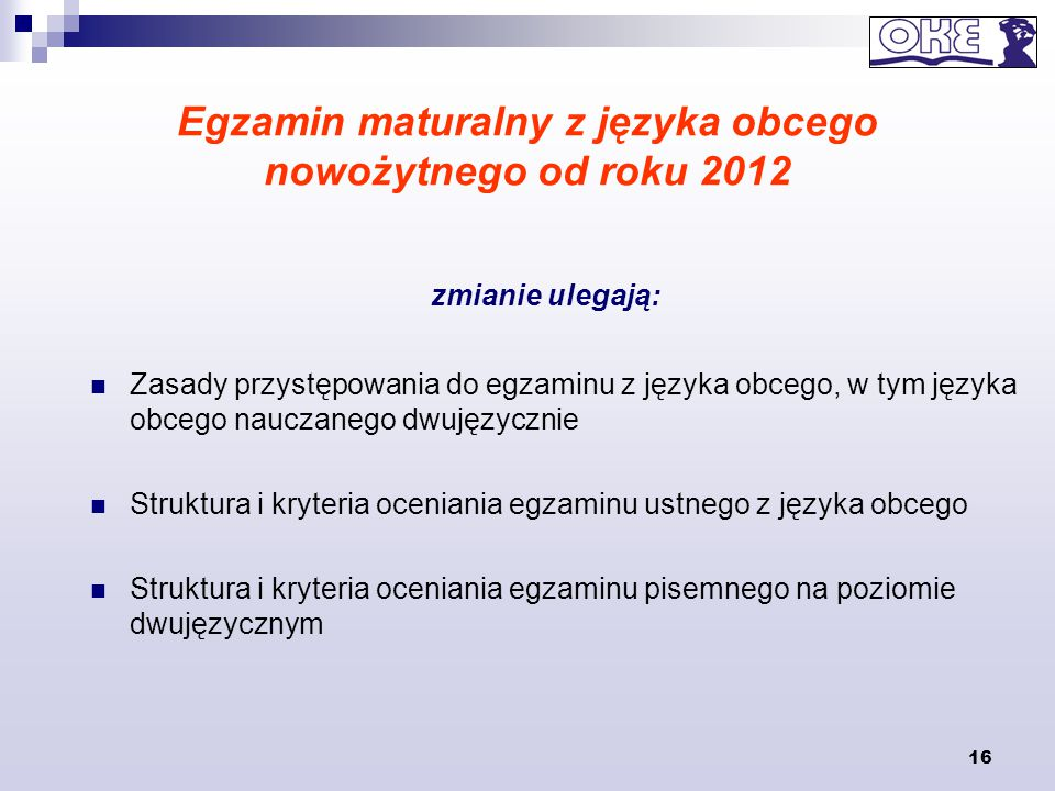 Egzamin maturalny z języka obcego nowożytnego od roku 2012