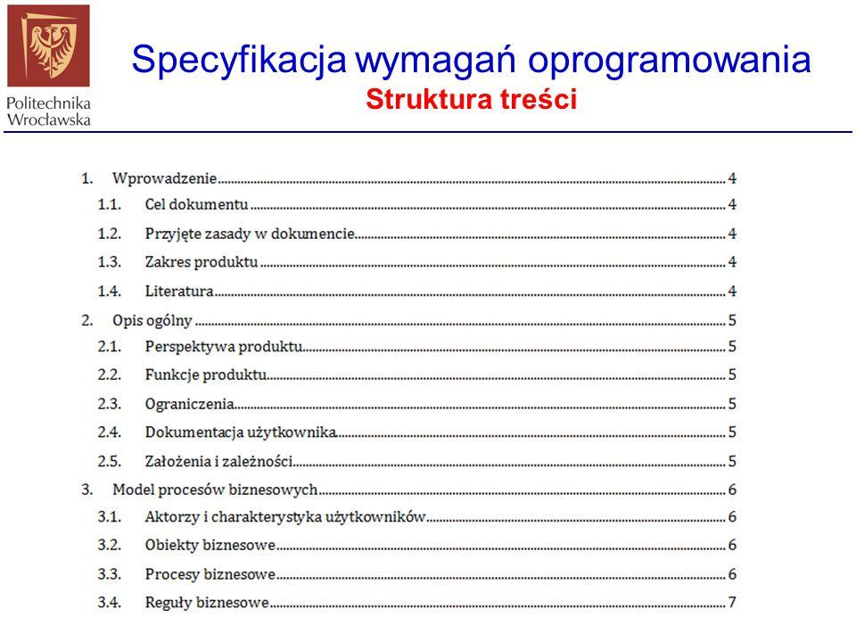 Specyfikacja wymagań oprogramowania