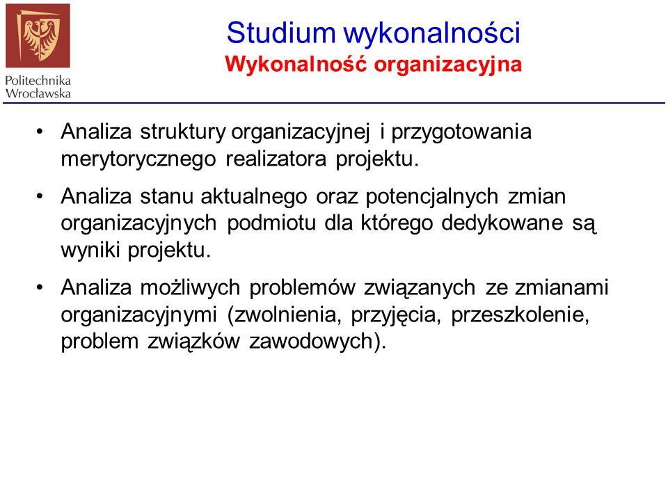 Wykonalność organizacyjna