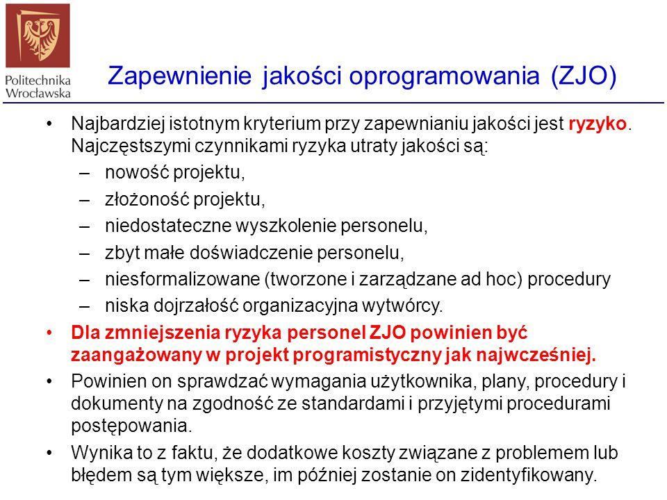 Zapewnienie jakości oprogramowania (ZJO)