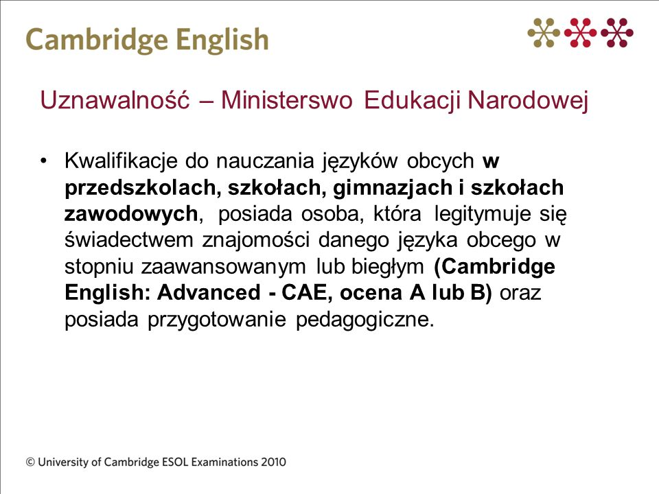 Uznawalność – Ministerswo Edukacji Narodowej