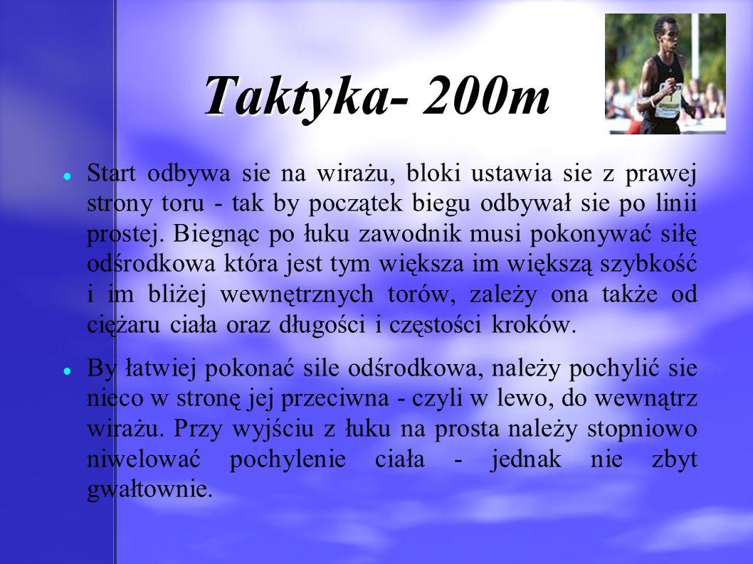 Taktyka- 200m
