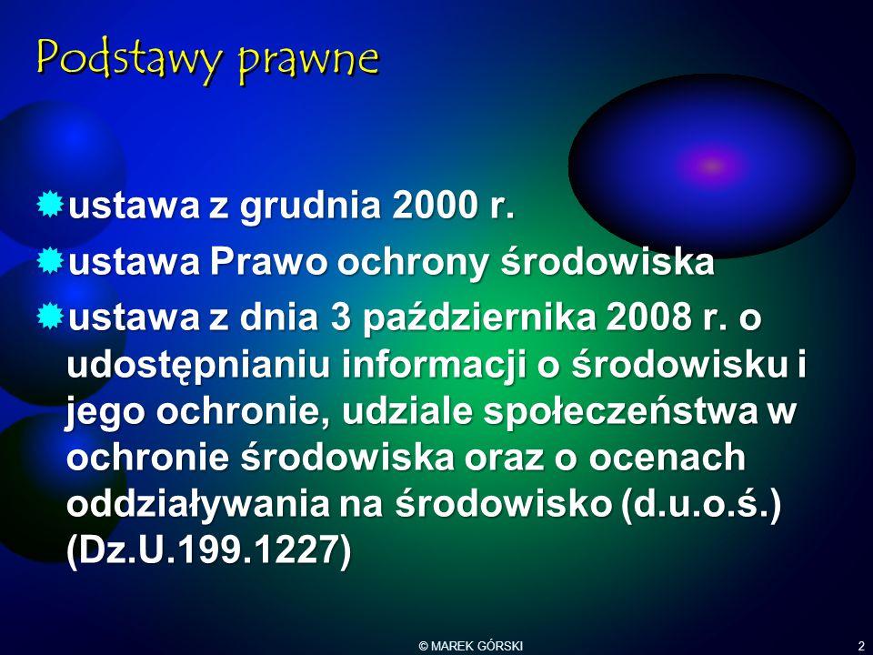 Podstawy prawne ustawa z grudnia 2000 r.