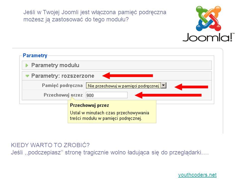 Jeśli w Twojej Joomli jest włączona pamięć podręczna