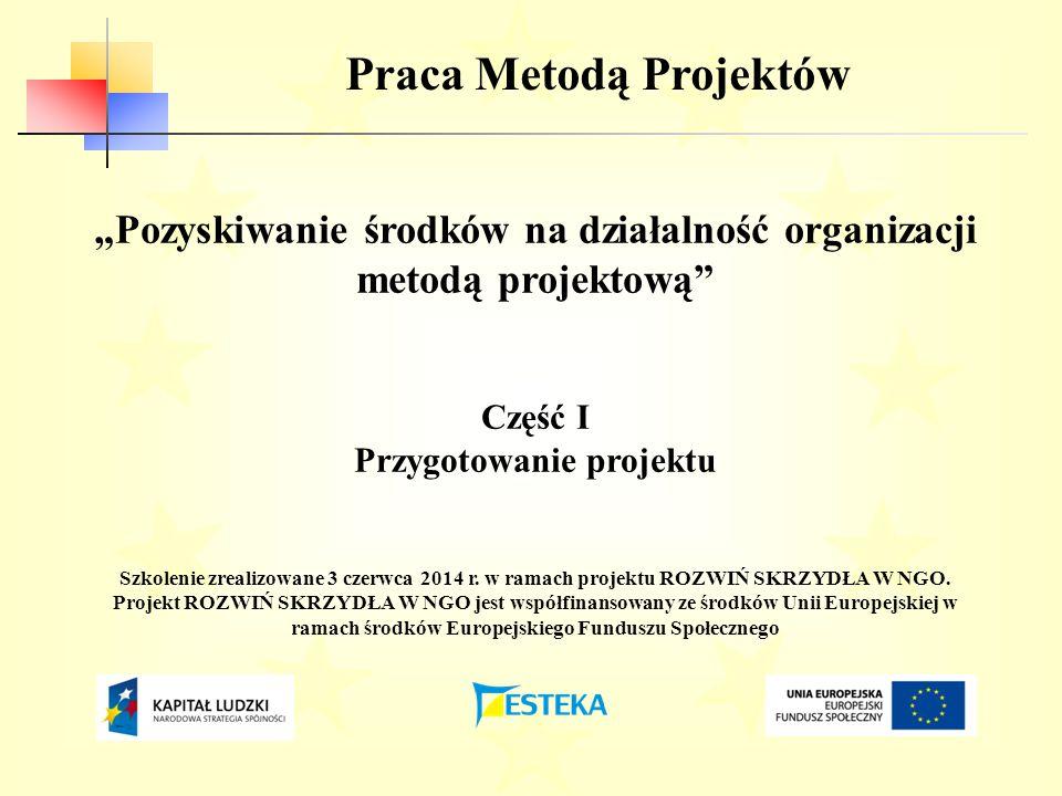 Praca Metodą Projektów Przygotowanie projektu