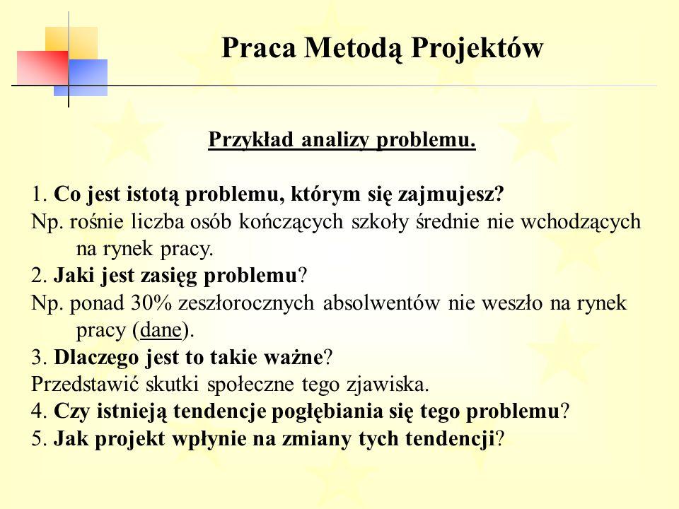 Przykład analizy problemu.