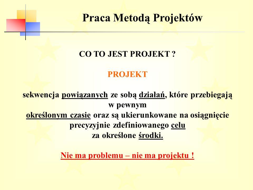 Praca Metodą Projektów Nie ma problemu – nie ma projektu !