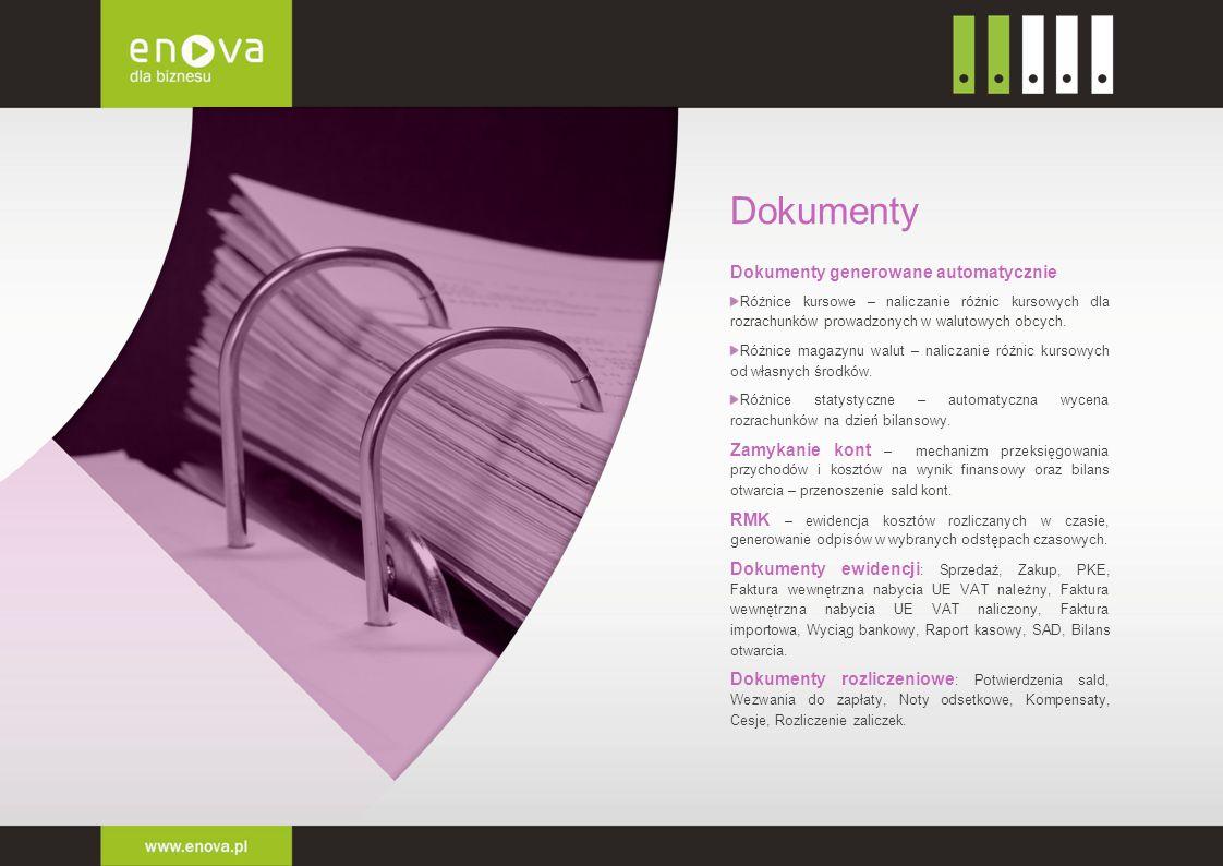 Dokumenty Dokumenty generowane automatycznie