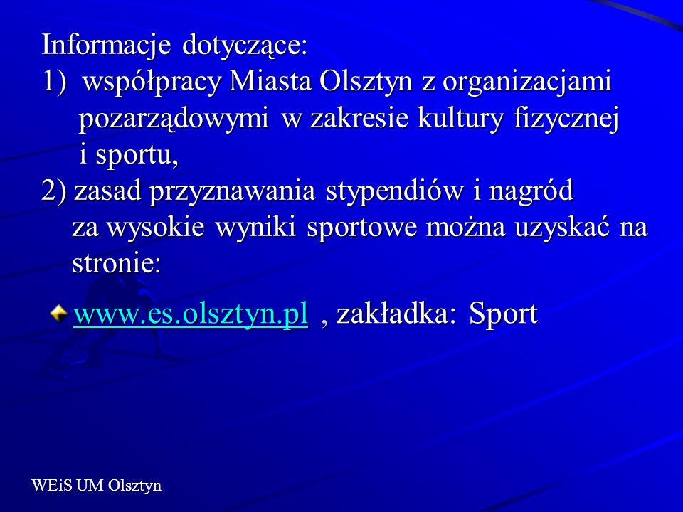 www.es.olsztyn.pl , zakładka: Sport