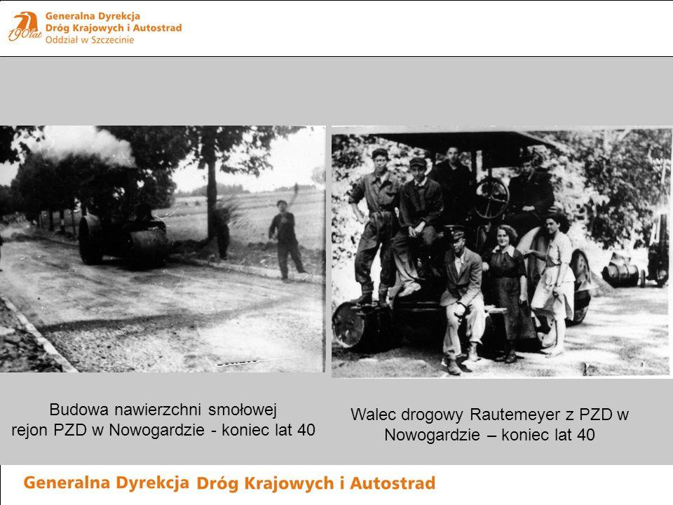 Budowa nawierzchni smołowej rejon PZD w Nowogardzie - koniec lat 40