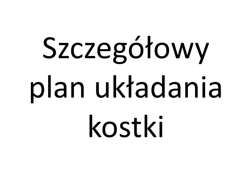 Szczegółowy plan układania kostki