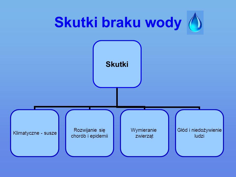 Skutki braku wody
