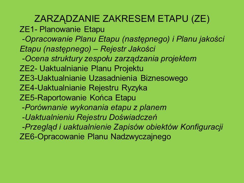 ZARZĄDZANIE ZAKRESEM ETAPU (ZE)