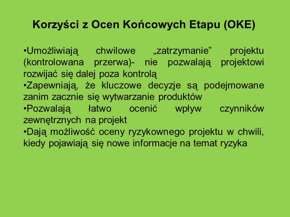 Korzyści z Ocen Końcowych Etapu (OKE)