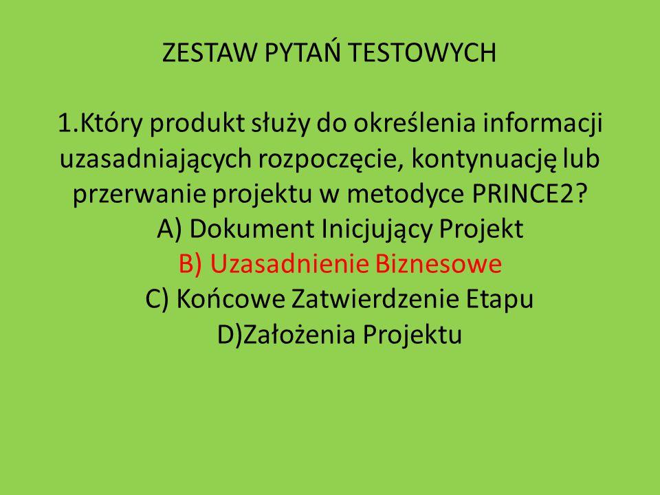 ZESTAW PYTAŃ TESTOWYCH 1